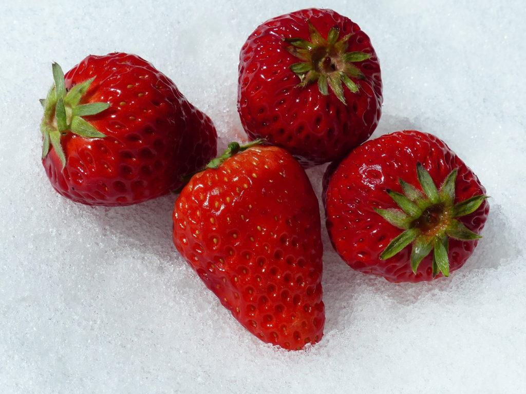 Consommer des fraises en hiver